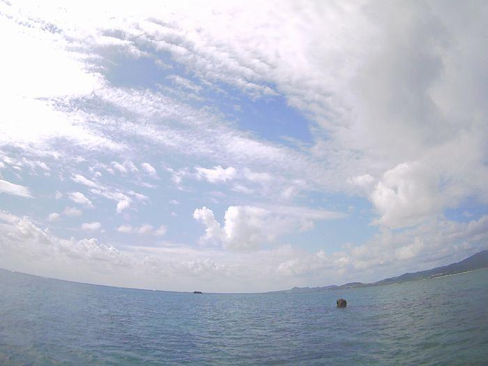 午前、午後ともに晴れたり曇ったりの天気です