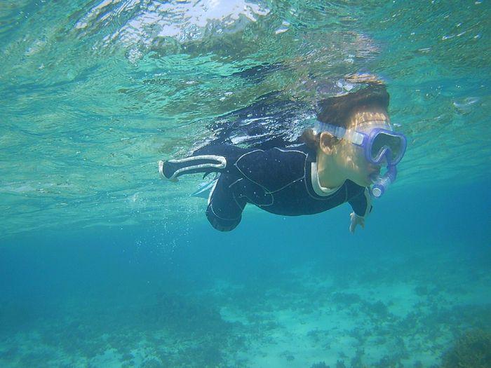 Bダッシュで泳ぎ始めています
