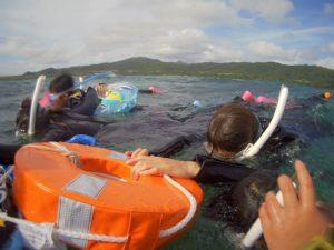 北風強い石垣島は午前も午後も体育会シュノーケリング!少人数ツアーはちびっこも楽しんだ水中世界でした!
