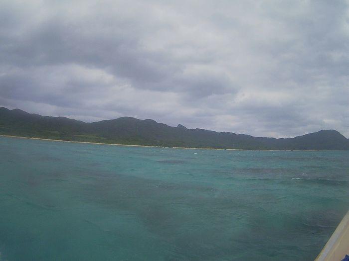 どんより空模様の石垣島
