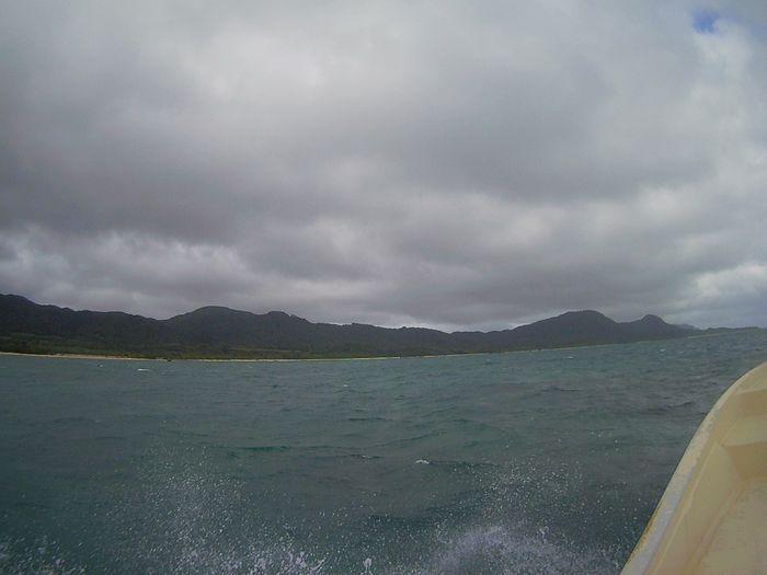 午後からの半日ツアーは曇り