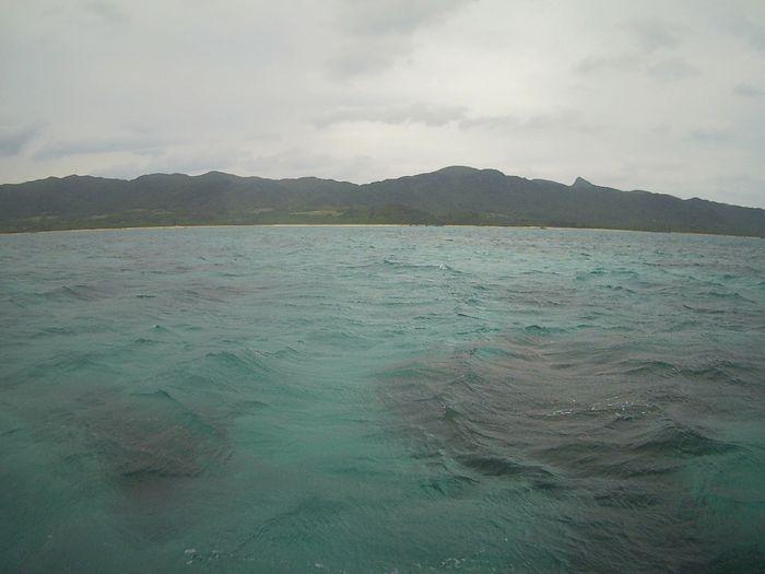 天気は曇りの石垣島です