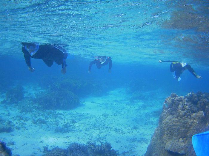 クリアブルーの海が広がります。