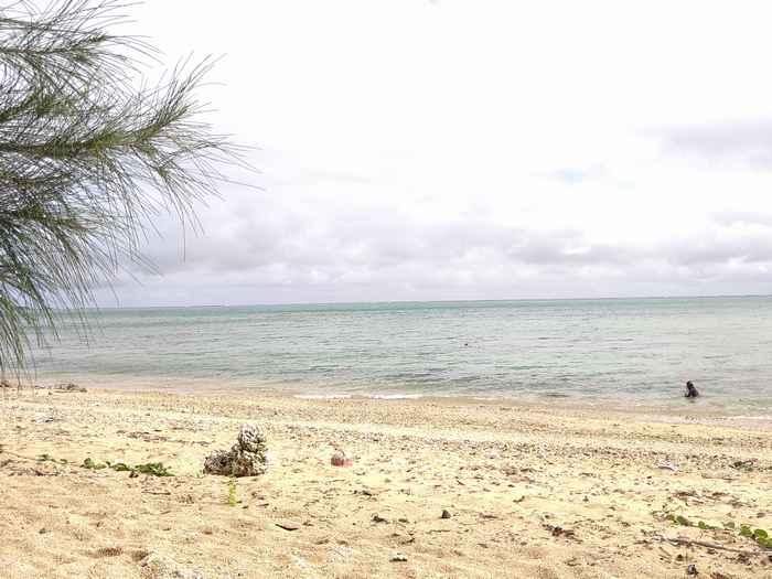 海の穏やかな干潮時間