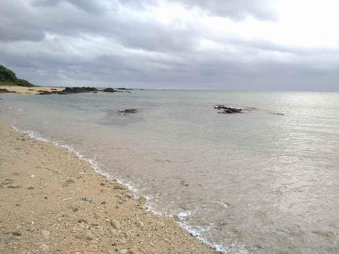 海は穏やかそのものです