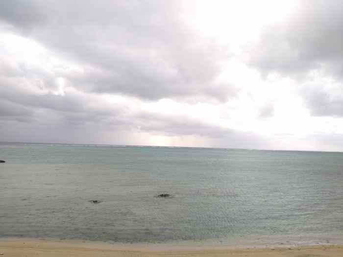 天気は曇りです