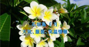 6月の石垣島天気,気温,服装,旅行,観光,アクティビティのプチブログ2020年