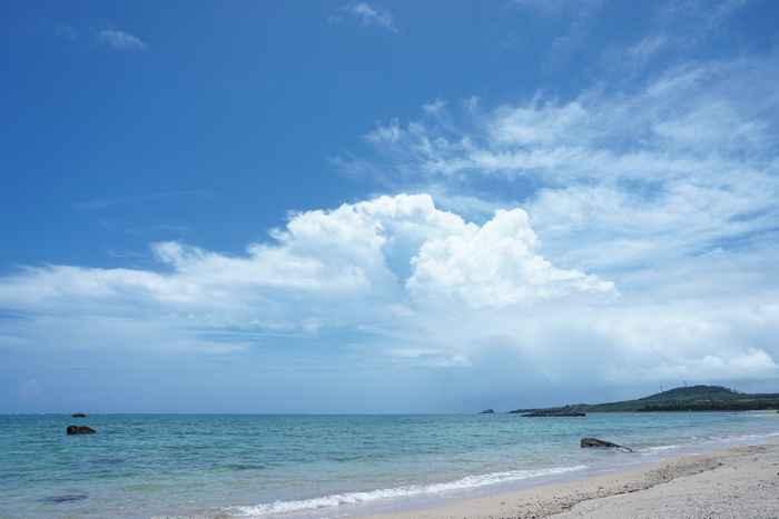 梅雨、5月6月の石垣島のビーチ