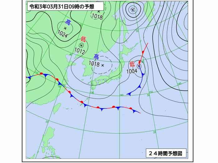今日の石垣島の天気図
