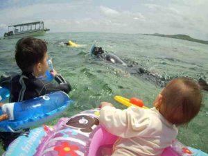 1歳5歳のちびっこも石垣島の海を満喫!到着日からアクセル全開です!