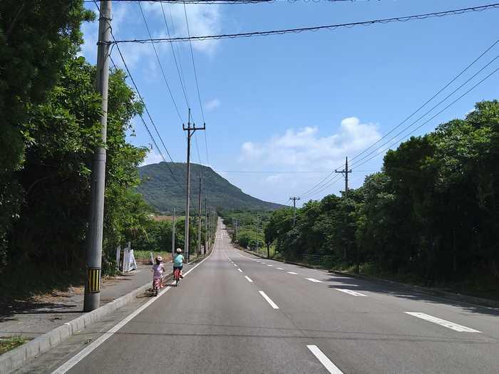 隣集落までサイクリング