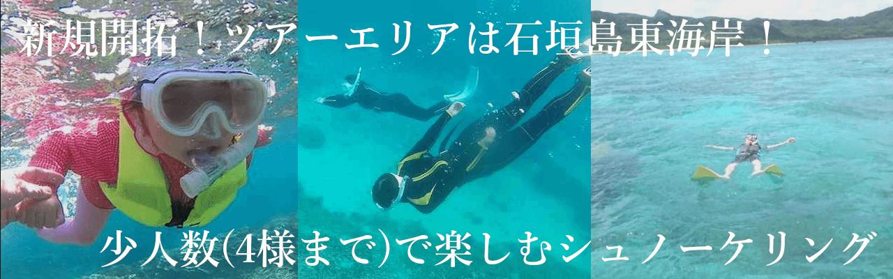 石垣島シュノーケリングショップ,少人数ツアーさんご礁の海から
