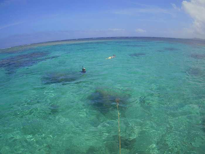 青空、石垣島の海を満喫です