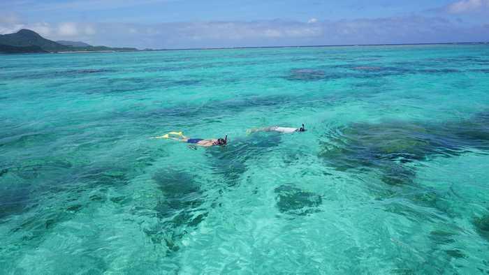 石垣島のエメラルドグリーンの海を満喫です