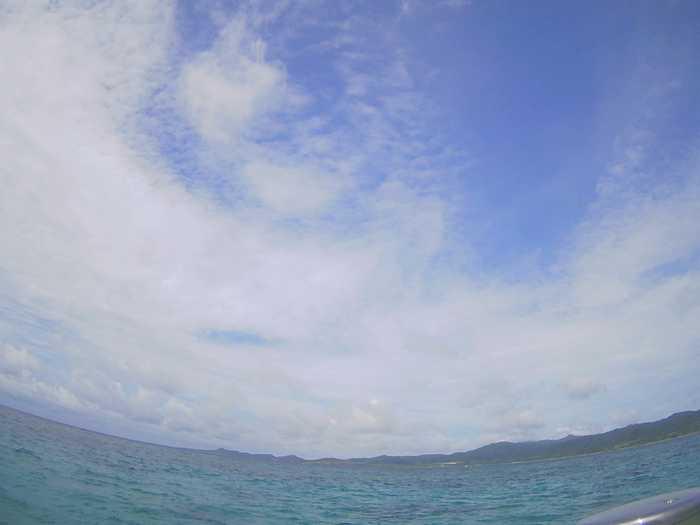 石垣島の天気は晴れたり曇ったり