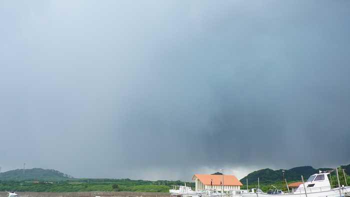 昨日の石垣島の空模様