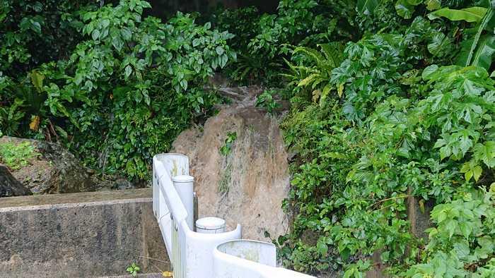 午前中の石垣島は大雨