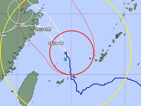 台風6号、通過しました