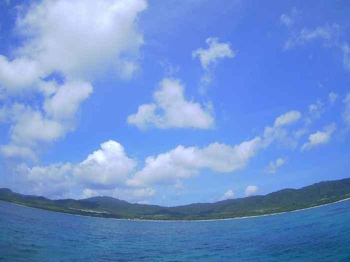晴れの石垣島、日焼け日和です。