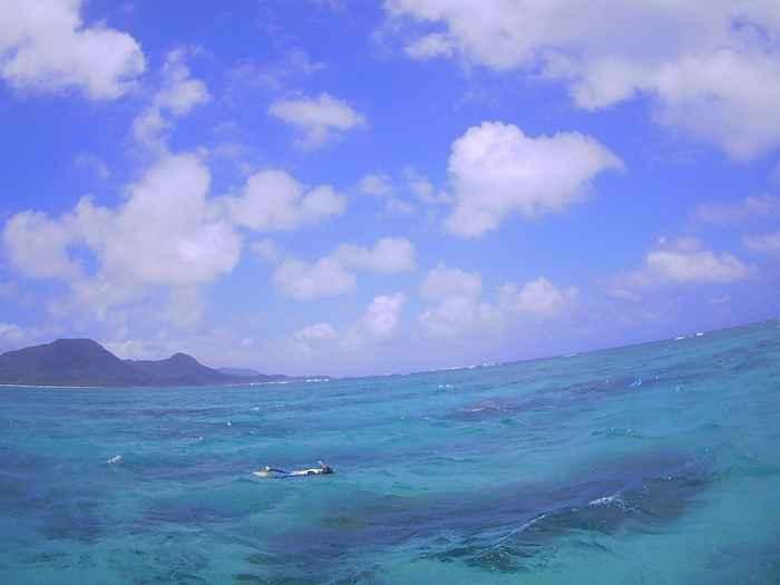 快晴の石垣島、だた風は強いです