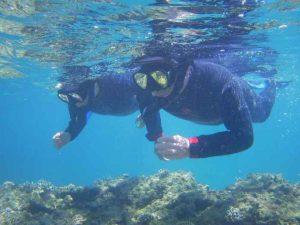 石垣島の海はシニアの方もシュノーケルを楽しめます♪