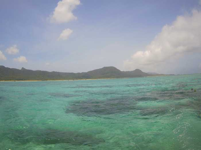 天気は晴れの石垣島