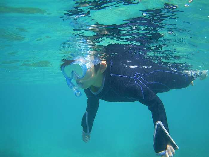 一人で泳げるようになりました