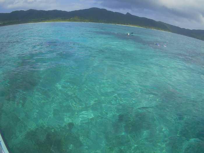 天気は晴れ!きれいな海が広がります。