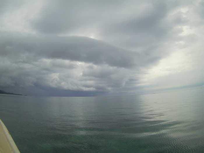 あいにくの曇り模様の石垣島