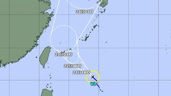 天気図を見ると台風