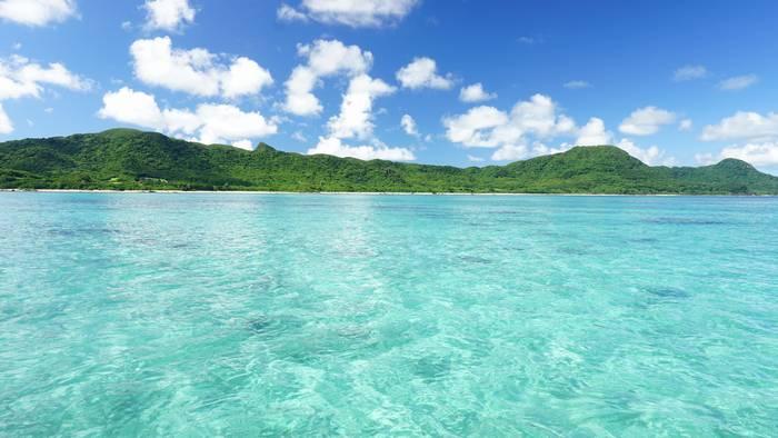 昨日までの石垣島の海