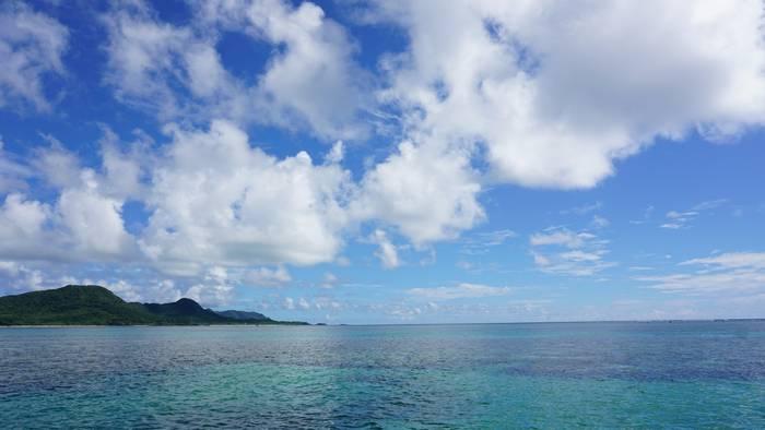 石垣島の海はいつも通り