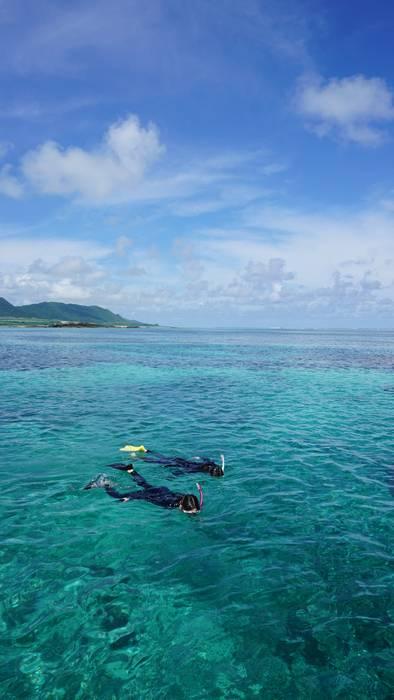 石垣島の海をシュノーケリング