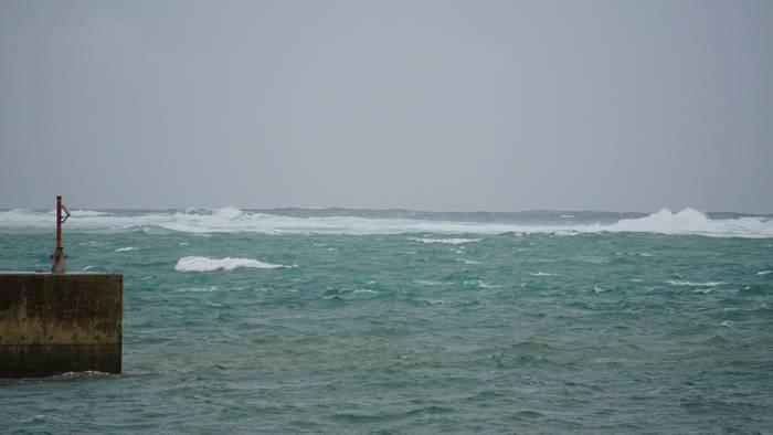 白波が高くなってきました。