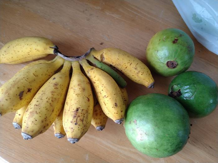 島バナナとグアバ