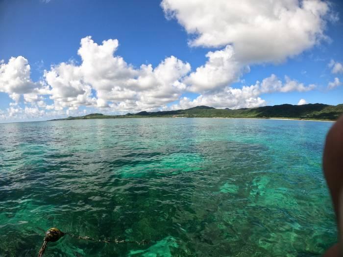 穏やかな海が広がります。