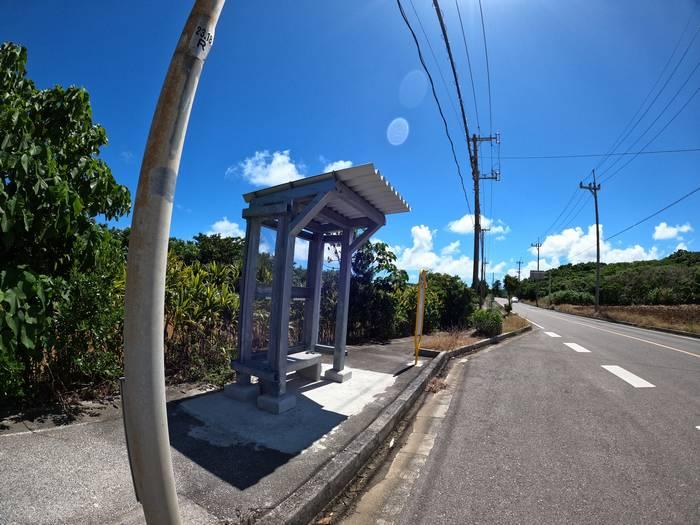 事務所の前にあるバス停