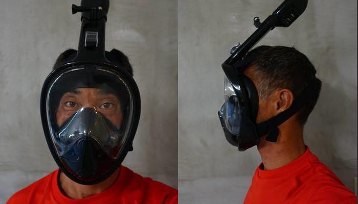 フルフェイスのマスク