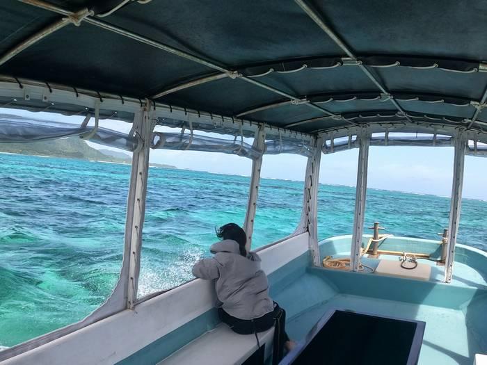 ボートから見える海