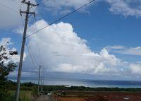10月になっても石垣島は夏雲の登場