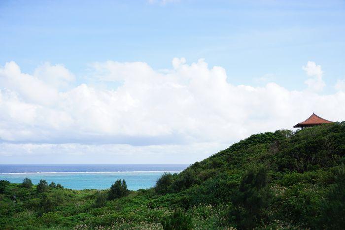 石垣島北部、東海岸を一望、玉取崎展望台
