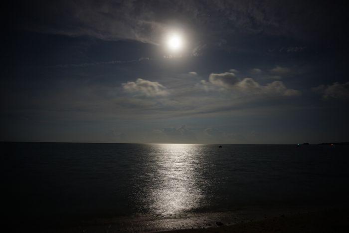 海、水面には、ムーンロード