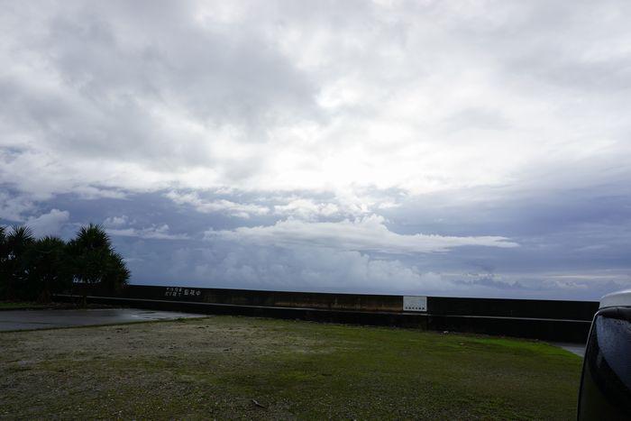 石垣島はまだ曇り、一瞬の晴れ間です。