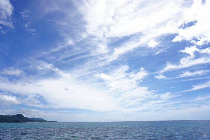夏本番の陽射しの石垣島です