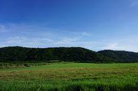山も牧草地も心地よいです