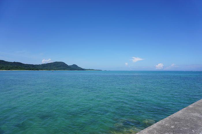 日中の石垣島の空模様