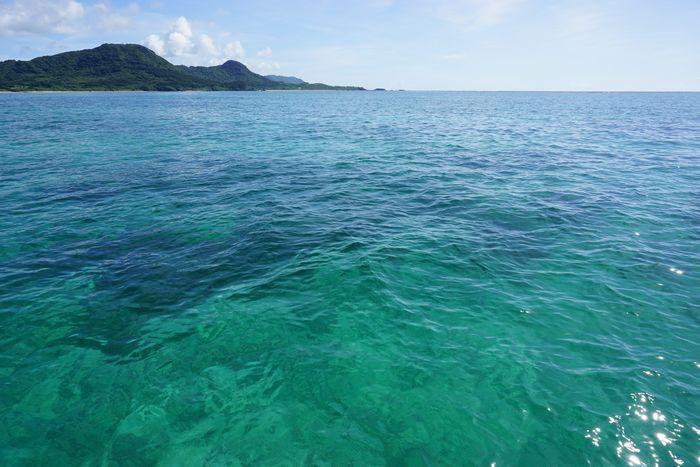 石垣島の海は今日も穏やかです