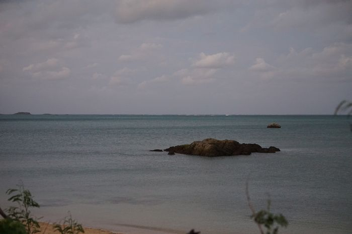 夕方は穏やかな海