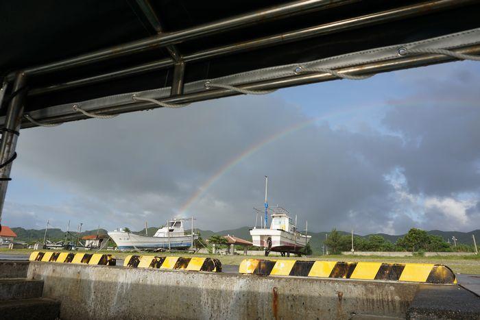 あら、虹の登場です