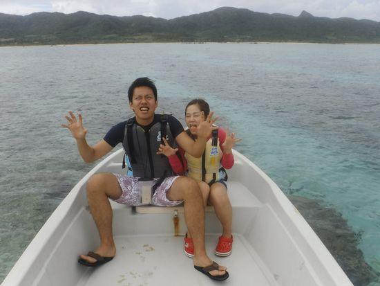 到着日のシュノーケルとなりました。H田さんとU崎さんです